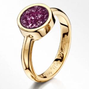 Purple Gold Tribute Ring