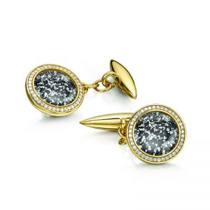 black gold halo cufflinks