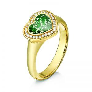 green gold halo heat ring